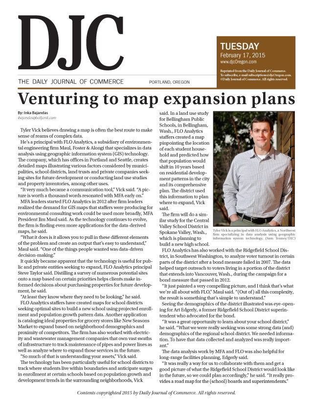 DJC Venturing to Map Expansion Plans
