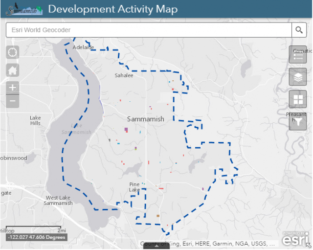 Sammamish Development Activity Map