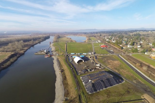 Aerial imagery of Port of Ridgefield Waterfront Revitalization | FLO Analytics